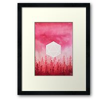 //Real Red// Framed Print