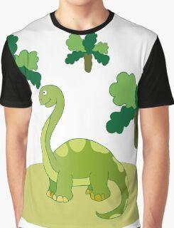 Green long necked dinosaur Graphic T-Shirt