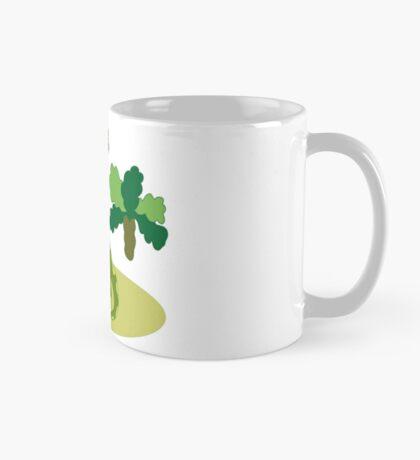 Green long necked dinosaur Mug
