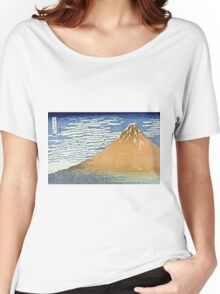 Hokusai Katsushika - Fine Wind, Clear Morning  (The Red Fuji)  Women's Relaxed Fit T-Shirt