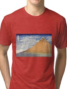 Hokusai Katsushika - Fine Wind, Clear Morning  (The Red Fuji)  Tri-blend T-Shirt