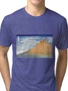 Hokusai Katsushika - Fine Wind, Clear Morning  (The Red Fuji)  Tri-blend T-Shirt