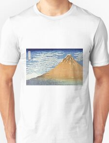Hokusai Katsushika - Fine Wind, Clear Morning  (The Red Fuji)  Unisex T-Shirt