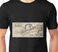 0401 Railroad Maps Map of the Toledo Wabash and Gt Western Rail Road Line and its Unisex T-Shirt