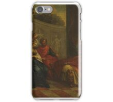 Roman school, 17th century The death of Alessandro Magno iPhone Case/Skin
