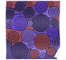 Blue and red hypnoses  Poster