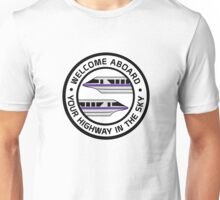 MonorailHighwayPurple Unisex T-Shirt