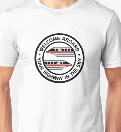 MonorailHighwayRed Unisex T-Shirt