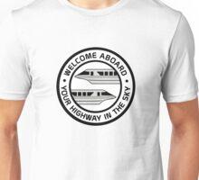 MonorailHighwaySilver Unisex T-Shirt