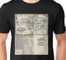 0063 Railroad Maps Railway map shewing sic the connections between Muscatine Iowa and the eastern Unisex T-Shirt