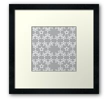 Grey stars Framed Print