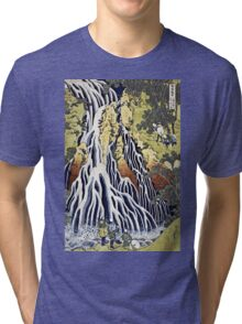 Hokusai Katsushika - The Kirifuri Waterfall  Tri-blend T-Shirt