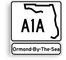 A1A - Ormond-By-The-Sea Canvas Print