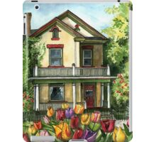 Farmhouse with Spring Tulips iPad Case/Skin