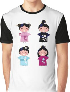 Little japan girls collection : Geisha original Designers Collection Graphic T-Shirt