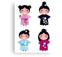 Little japan girls collection : Geisha original Designers Collection Canvas Print