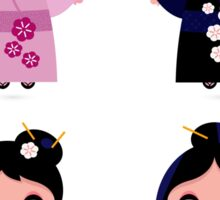 Little japan girls collection : Geisha original Designers Collection Sticker