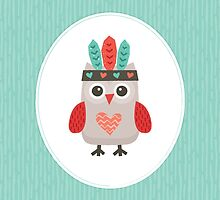 Hipster Owlet Mint v2 by daisy-beatrice