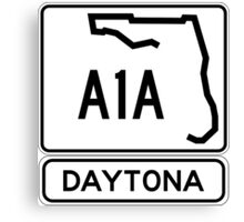 A1A - Daytona! The World's Fastest Beach! Canvas Print
