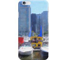 Coal Harbor Houseboats iPhone Case/Skin