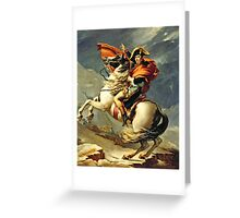 Jacques-Louis David - Napoleon Crossing The Alps  Greeting Card