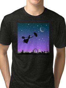 magical mary poppins Over London Tri-blend T-Shirt