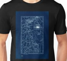 0096 Railroad Maps Delaware prepared especially for the Mercantile Guide and Bureau Co Publishers of Railway express and postal shipping Inverted Unisex T-Shirt