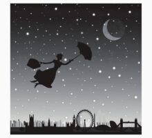 magical mary poppins Over London Baby Tee