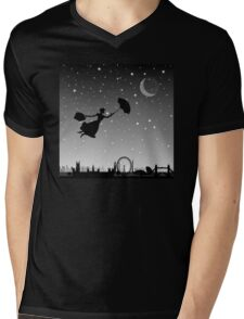 magical mary poppins Over London Mens V-Neck T-Shirt