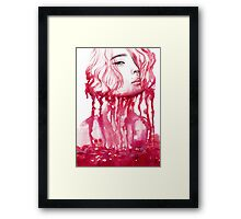 Drop of blood Framed Print