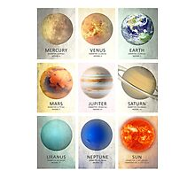 The Planets of our Solar System Photographic Print