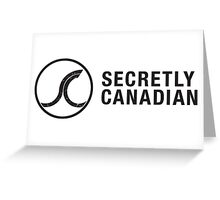 Secretly Canadian logo and title Greeting Card