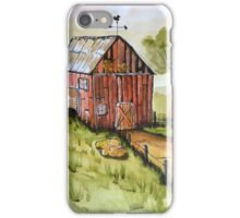 Countryside Old Red Barn iPhone Case/Skin