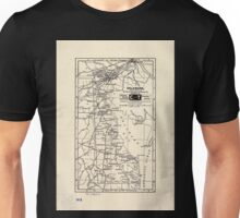 0096 Railroad Maps Delaware prepared especially for the Mercantile Guide and Bureau Co Publishers of Railway express and postal shipping Unisex T-Shirt