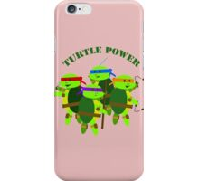 TMNT turtle power iPhone Case/Skin