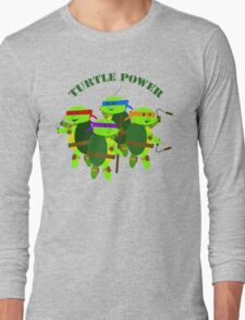 TMNT turtle power Long Sleeve T-Shirt
