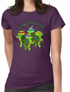 TMNT turtle power Womens Fitted T-Shirt