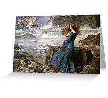 John William Waterhouse - Miranda - The Tempest  Greeting Card