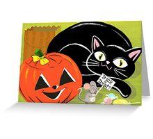 Halloween Trick Or Treat Trio Greeting Card