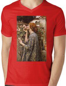 John William Waterhouse - The Soul Of The Rose  Mens V-Neck T-Shirt