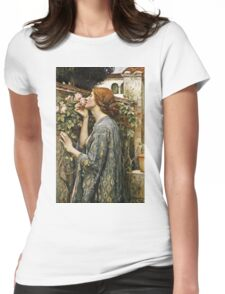 John William Waterhouse - The Soul Of The Rose  Womens Fitted T-Shirt