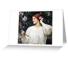 John William Waterhouse - Vanity  Greeting Card