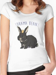 DRAMA BEAN Women's Fitted Scoop T-Shirt