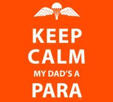 KEEP CALM MY DAD'S A PARA Kids Tee