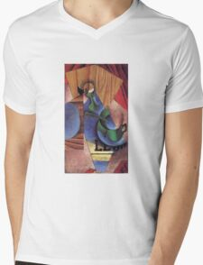Juan Gris - Glass Cup And Newspaper 1913 Mens V-Neck T-Shirt