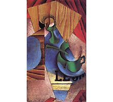 Juan Gris - Glass Cup And Newspaper 1913 Photographic Print