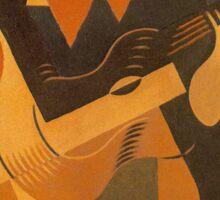 Juan Gris - Harlequin With Guitar Sticker
