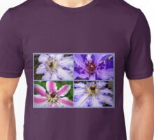 Clematis Collage Unisex T-Shirt