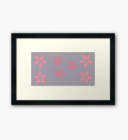Pink Bursting Grey Framed Print