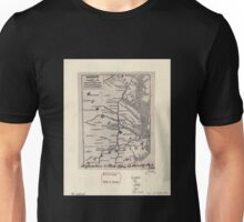 0177 Railroad Maps Railroads in Virginia and part of North Carolina drawn and engraved for Doggett's Railroad Guide Unisex T-Shirt